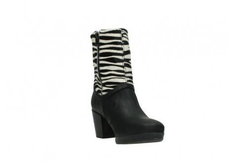 wolky mid calf boots 08030 beacon 90000 black zebraprint leather_17
