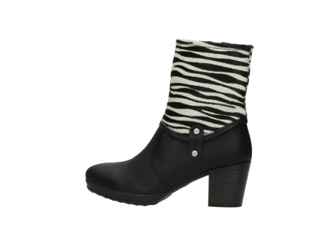 wolky mid calf boots 08030 beacon 90000 black zebraprint leather_2