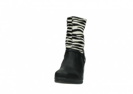 wolky mid calf boots 08030 beacon 90000 black zebraprint leather_20