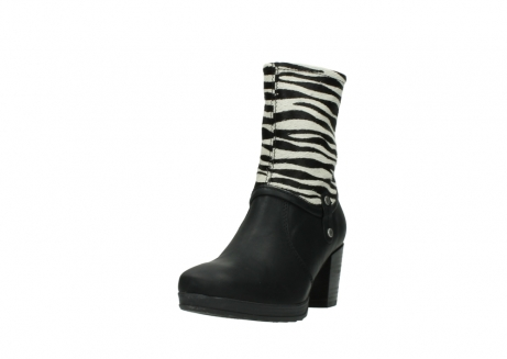 wolky mid calf boots 08030 beacon 90000 black zebraprint leather_21
