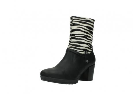 wolky mid calf boots 08030 beacon 90000 black zebraprint leather_22