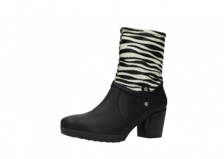 wolky mid calf boots 08030 beacon 90000 black zebraprint leather_23