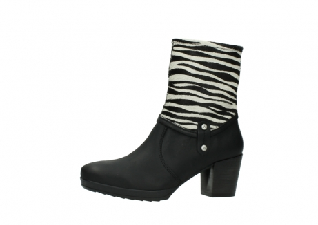 wolky mid calf boots 08030 beacon 90000 black zebraprint leather_24