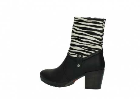 wolky mid calf boots 08030 beacon 90000 black zebraprint leather_3