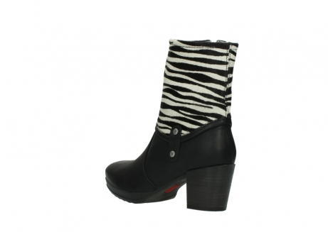 wolky mid calf boots 08030 beacon 90000 black zebraprint leather_4