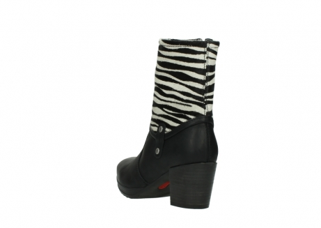 wolky mid calf boots 08030 beacon 90000 black zebraprint leather_5
