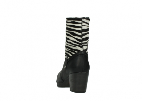 wolky mid calf boots 08030 beacon 90000 black zebraprint leather_6