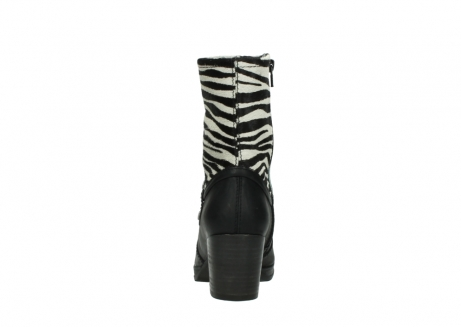wolky mid calf boots 08030 beacon 90000 black zebraprint leather_7
