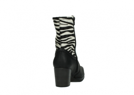 wolky mid calf boots 08030 beacon 90000 black zebraprint leather_8