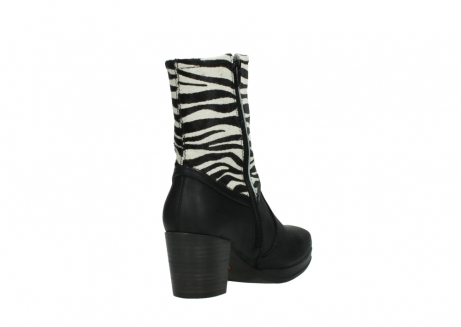 wolky mid calf boots 08030 beacon 90000 black zebraprint leather_9