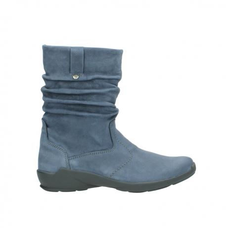 wolky halfhoge laarzen 1572 luna 180 blauw nubuck