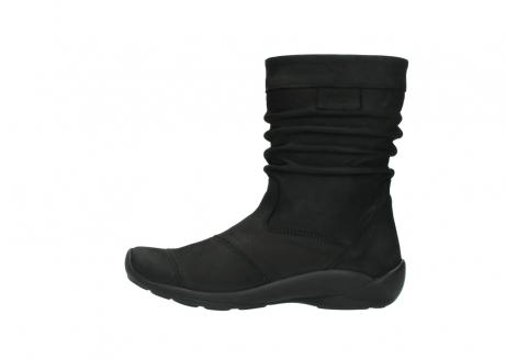 wolky halfhoge laarzen 1658 jacky 500 zwart geolied leer_1