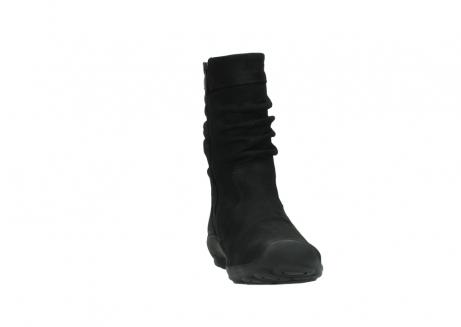 wolky halfhoge laarzen 1658 jacky 500 zwart geolied leer_18