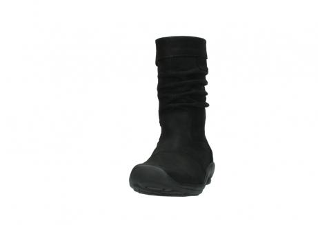 wolky halfhoge laarzen 1658 jacky 500 zwart geolied leer_20