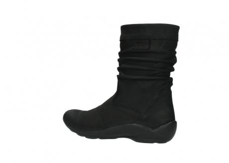 wolky halfhoge laarzen 1658 jacky 500 zwart geolied leer_3
