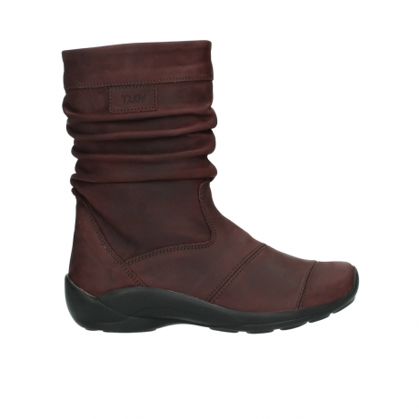 wolky halbhohe stiefel 1658 jacky 551 bordeaux geoltes leder