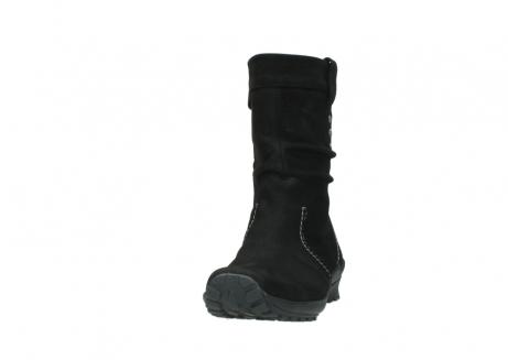 wolky halfhoge laarzen 1732 bryce 500 zwart geolied leer_20