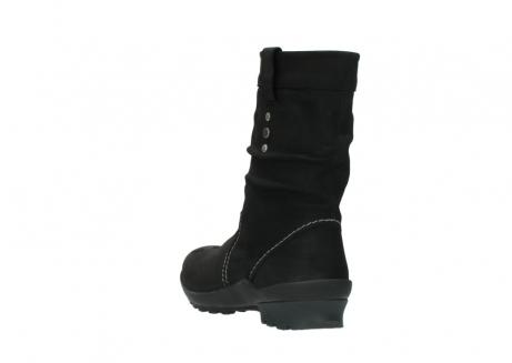 wolky halfhoge laarzen 1732 bryce 500 zwart geolied leer_5