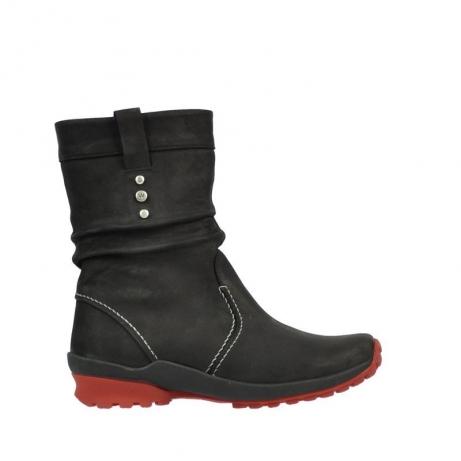 wolky halfhoge laarzen 1732 bryce 502 zwart rood geolied leer