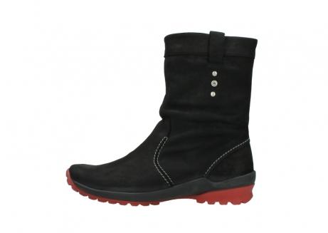 wolky halfhoge laarzen 1732 bryce 502 zwart rood geolied leer_1