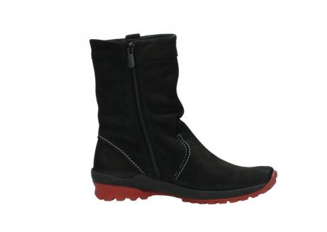 wolky halfhoge laarzen 1732 bryce 502 zwart rood geolied leer_14