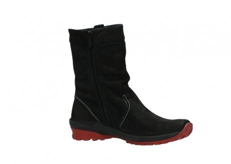 wolky halfhoge laarzen 1732 bryce 502 zwart rood geolied leer_15