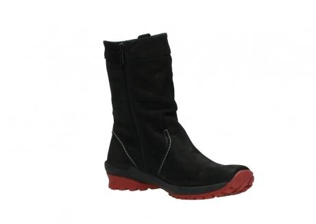 wolky halfhoge laarzen 1732 bryce 502 zwart rood geolied leer_16