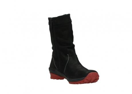 wolky halfhoge laarzen 1732 bryce 502 zwart rood geolied leer_17