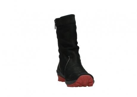 wolky halfhoge laarzen 1732 bryce 502 zwart rood geolied leer_18