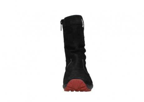 wolky halfhoge laarzen 1732 bryce 502 zwart rood geolied leer_19