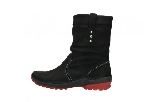 wolky halfhoge laarzen 1732 bryce 502 zwart rood geolied leer_2