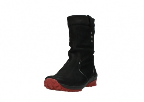 wolky halfhoge laarzen 1732 bryce 502 zwart rood geolied leer_21