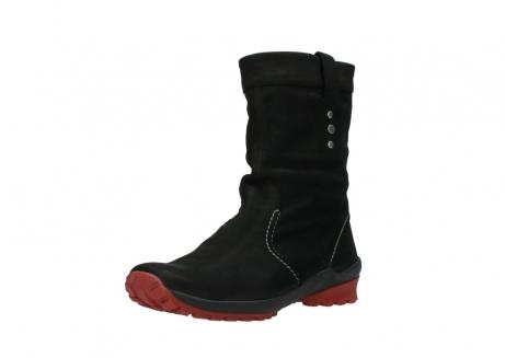 wolky halfhoge laarzen 1732 bryce 502 zwart rood geolied leer_22