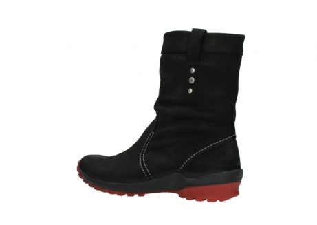 wolky halfhoge laarzen 1732 bryce 502 zwart rood geolied leer_3