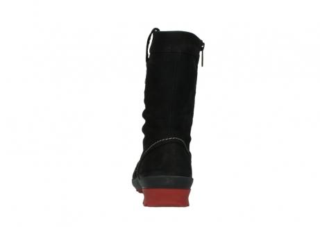 wolky halfhoge laarzen 1732 bryce 502 zwart rood geolied leer_7