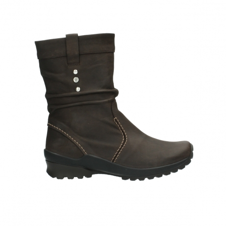 wolky halbhohe stiefel 1736 bryce cw 530 braun geoltes leder cold winter warmfutter