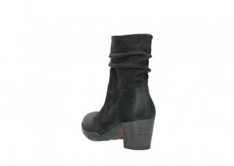 wolky halfhoge laarzen 3676 colville 400 zwart geolied suede_5