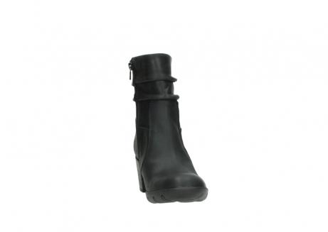 wolky halfhoge laarzen 3676 colville 500 leontien zwart geolied leer_18