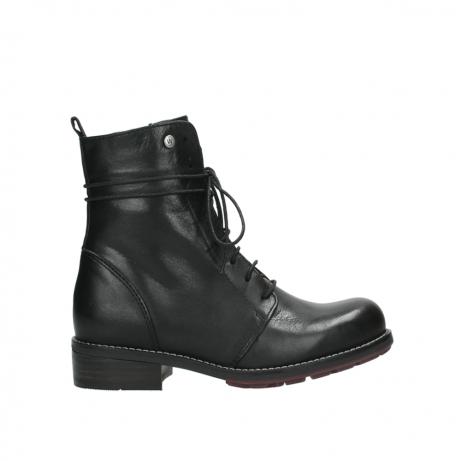 wolky halfhoge laarzen 4438 murray cw 200 zwart leer cold winter vachtvoering