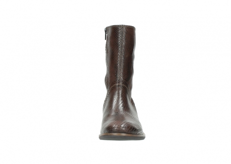 wolky halbhohe stiefel 4511 yunnan 343 cognac snakeprint leder_19