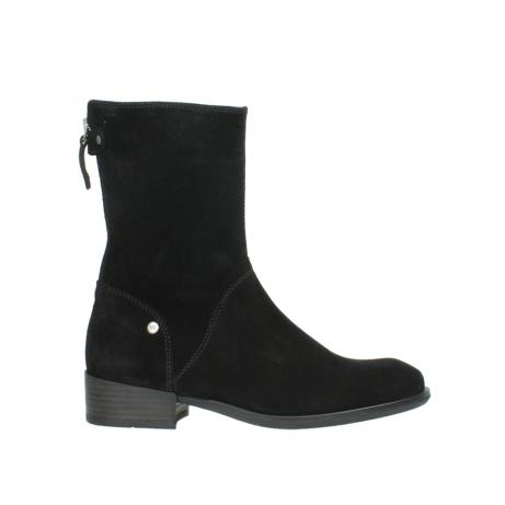 wolky halfhoge laarzen 4511 yunnan 400 zwart suede