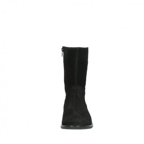wolky halfhoge laarzen 4511 yunnan 400 zwart suede_19