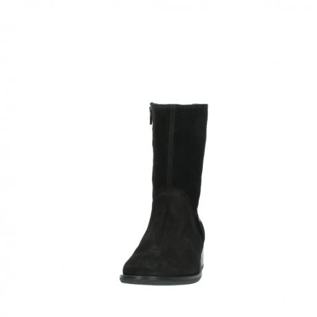 wolky halfhoge laarzen 4511 yunnan 400 zwart suede_20