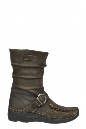 wolky halfhoge laarzen 6267 roll jacky 530 bruin geolied leer