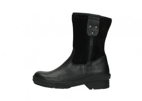 wolky halfhoge laarzen 7628 wilton wp 500 zwart leer water proof vachtvoering_1