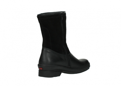 wolky halfhoge laarzen 7628 wilton wp 500 zwart leer water proof vachtvoering_10