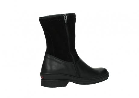 wolky halfhoge laarzen 7628 wilton wp 500 zwart leer water proof vachtvoering_11
