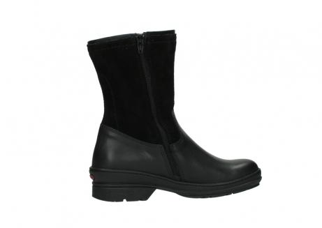 wolky halfhoge laarzen 7628 wilton wp 500 zwart leer water proof vachtvoering_12