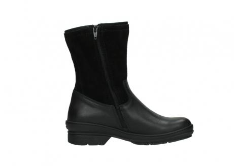 wolky halfhoge laarzen 7628 wilton wp 500 zwart leer water proof vachtvoering_13