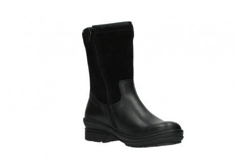 wolky halfhoge laarzen 7628 wilton wp 500 zwart leer water proof vachtvoering_16